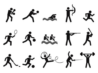 sport people silhouettes icon