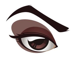 Vector Female Eye
