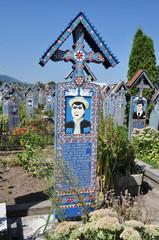 Romania. Cimitero allegro di Sapinta.