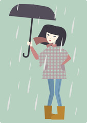 Girl with the umbrella