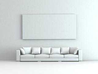 Modell - Sofa mit Kissen und Bild