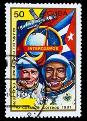 CUBA - CIRCA 1981: A stamp printed in CUBA, 20th anniversary of