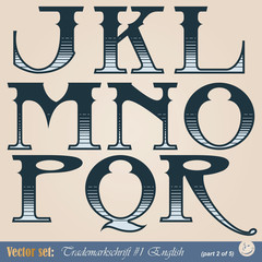 Set of vector letters of the English alphabet
