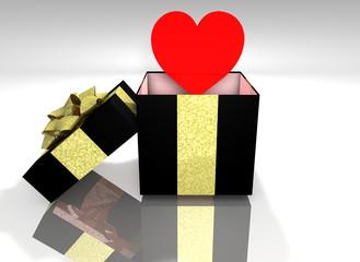 heart filled 3d box
