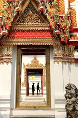 Printed roller blinds China View through doors in the Wat Pho Temple Bangkok