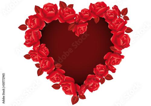 Cuore di san valentino con rose rosse stock image and for Quadri con rose rosse
