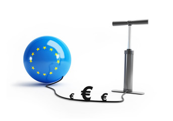 European Union pump euro money