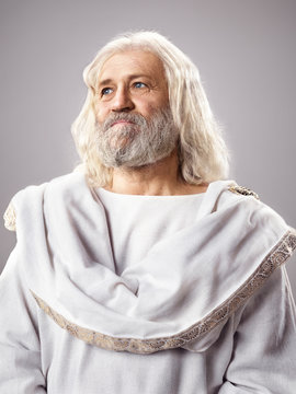 Old wise man dressed in toga