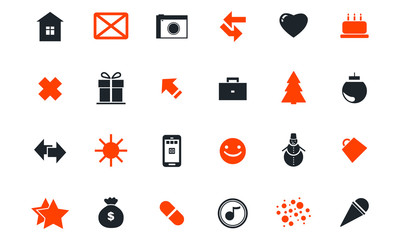 Set of holiday icons.