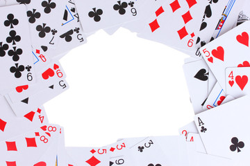 Cards isolated on white
