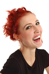 Laughing girl with red hair