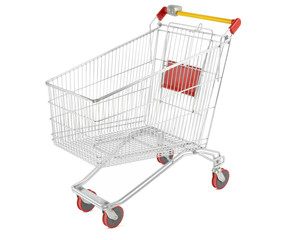 Shopping cart with outline clipping path