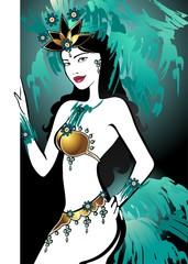 Brazilian dancer Turquoise