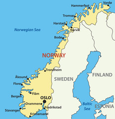 map of Norway - vector