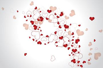 Abstract Valentine little heart illustration