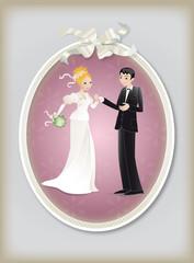 Cadre photo mariage