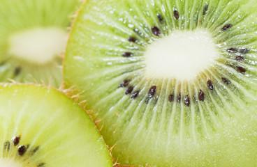 Kiwi fruit macro view