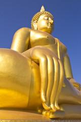 Big Buddha image in Thailand temple