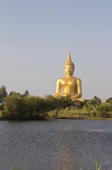Big buddha image near the lagune
