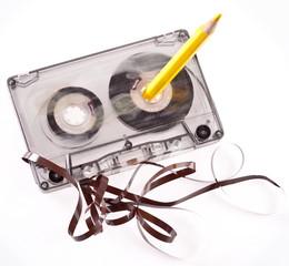 Old broken cassette.