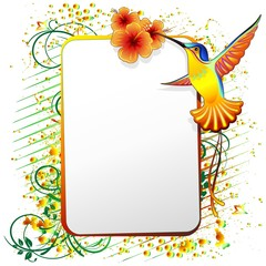 Colibri Sfondo Design-Hummingbird Ornamental Background-2