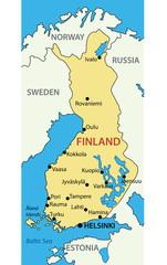 Republic of Finland - vector map
