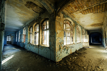 Canvas Prints Old Hospital Beelitz Corners