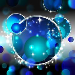 weltall abstrakt blue
