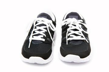 Sportschuhe, Joggingschuhe auf weißem Hintergrund