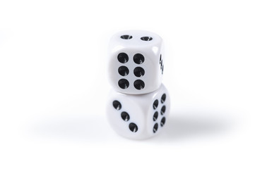 Dice on a stack