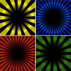 Poster de jardin Psychedelique 4 Sunburst And Abstract Backgrounds