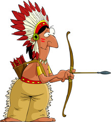 Cartoon indian
