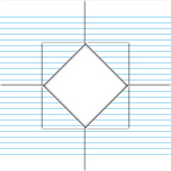 Paper sheet fold and drill by square pattern.