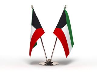 Miniature Flag of Kuwait (Isolated)