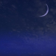 Night  starry sky and Moon background