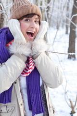 frau freude winter 2