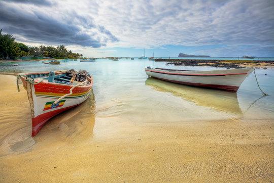 Peaceful coastal view, Mauritius