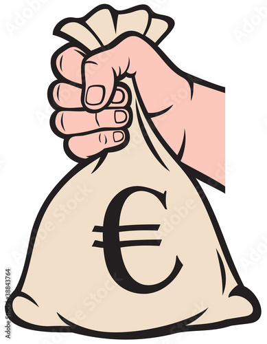 Money Bag With Euro Sign Vector Illustration Stock Image And