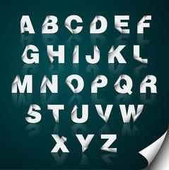 Pealed Paper Alphabet