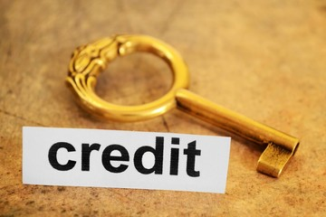 Credit and key concept