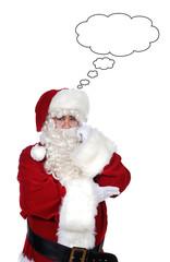 Santa Claus thoughtful