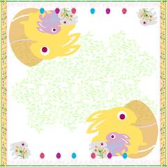 Easter Rabbits white