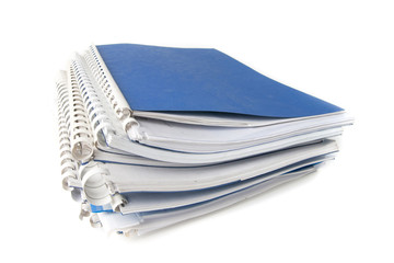 A stack of notebooks.