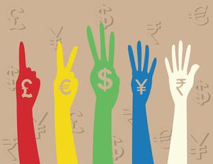 hand money sign
