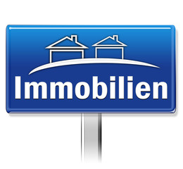 """Immobilien"" Schild"