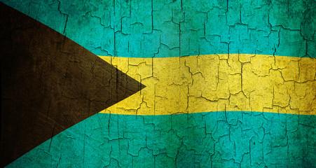 Grunge Bahamas flag