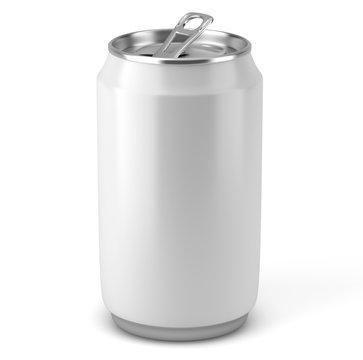 Canette de soda sur fond blanc 4