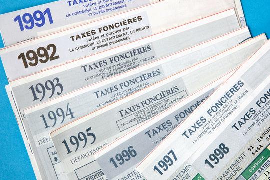 Evolution de la taxe foncières