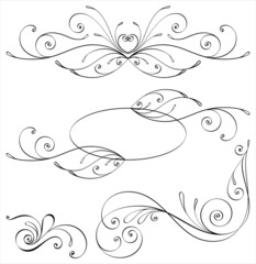 Calligraphic elements and page decoration.