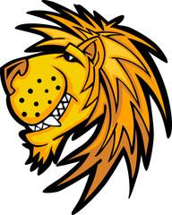 Smiling Cartoon Lion Mascot Vector Graphic